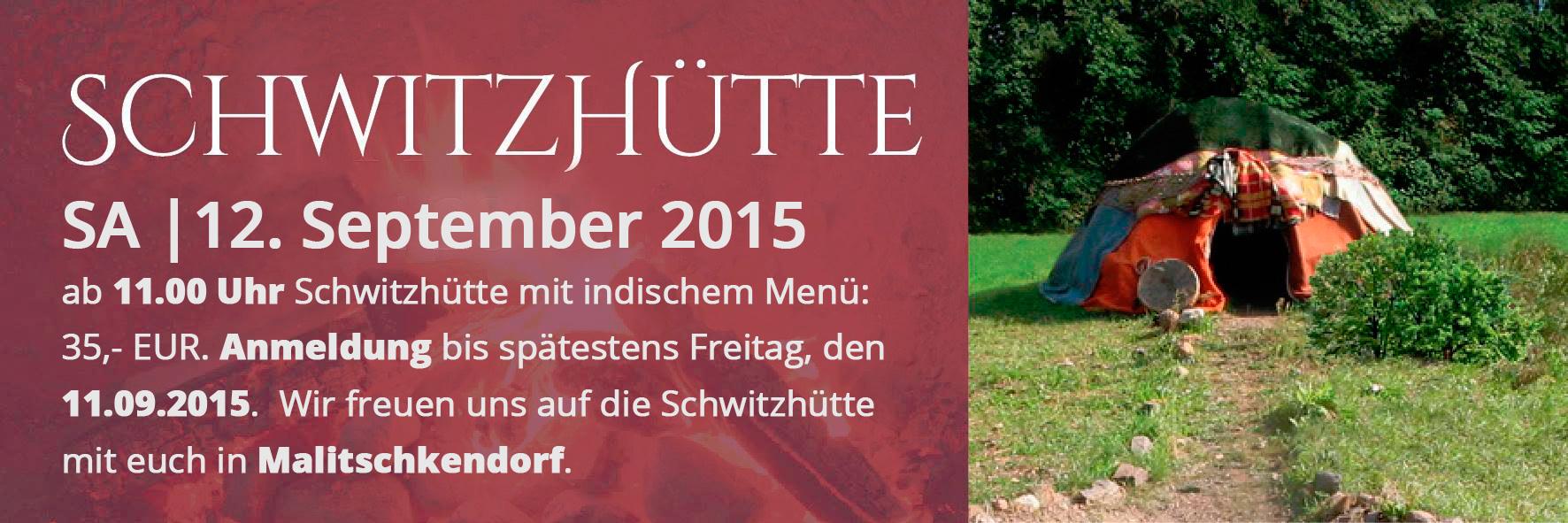 Schwitzhütte im September 2015